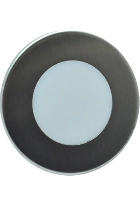 Erkled 1.5W Sıva Altı Yuvarlak Led Spot Koridor Armatürü (Beyaz Işık)