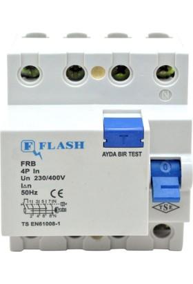 Flash 4X25A/300Ma Kaçak Akım Koruma Rölesi
