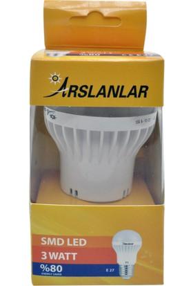 Ars 3W Eko Led Ampul (Beyaz Işık) E27