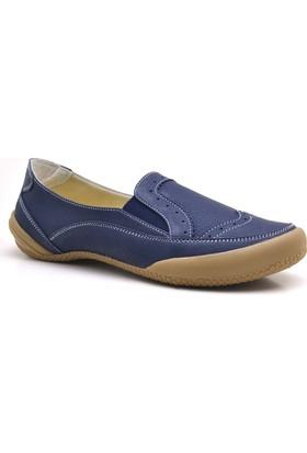 Baldano® Ortopedik Büyük Numara Lacivert Kadın Günlük Ayakkabı