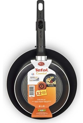 Tefal B3119022 Essential Frypans 20cm + 26cm Tava Seti Kırmızı - 2100097258