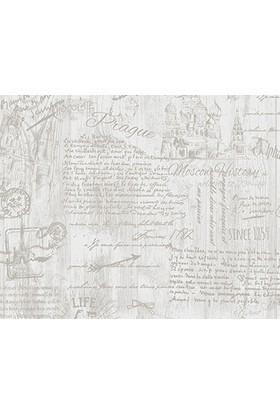 Decowall Yazı Desenli Royal Port Duvar Kağıdı 8812-03