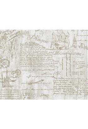 Decowall Yazı Desenli Royal Port Duvar Kağıdı 8812-02