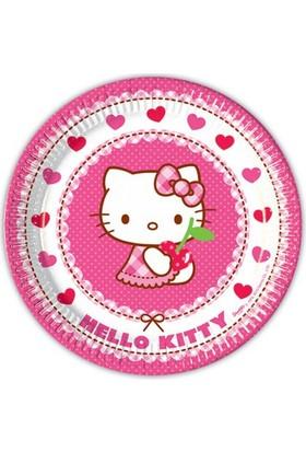 Siyah Lale Hello Kitty Parti Karton Tabak