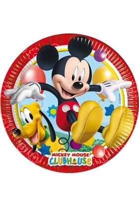 Siyah Lale Mickey Mouse Parti Karton Tabak