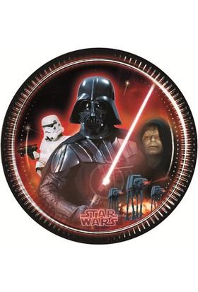 Siyah Lale Star Wars Parti Karakterli Karton Tabak