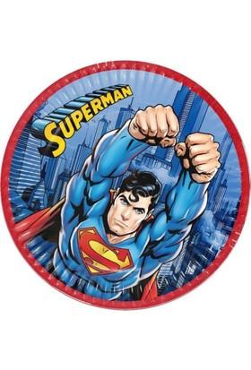 Siyah Lale Superman Parti Karakterli Karton Tabak