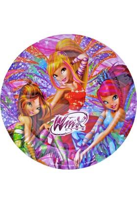 Siyah Lale Winx Parti Karakterli Karton Tabak