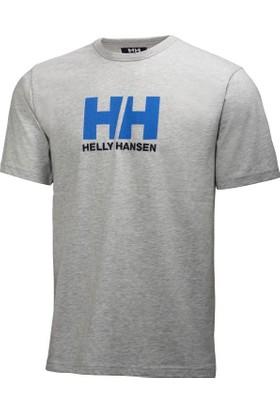 Helly Hansen Logo Tshirt Gri Melanj