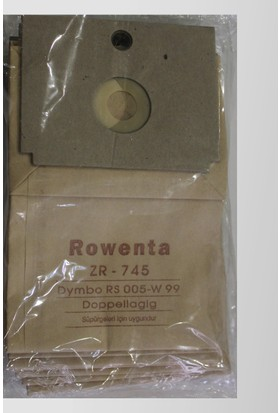 Rowenta Doppellagig ZR 445 Kağıt Süpürge Torbası