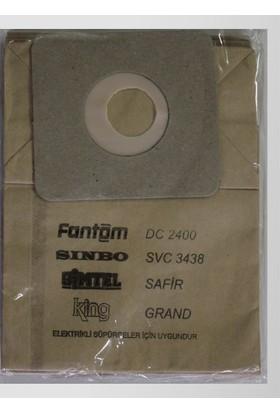 Arçelik Fantom DC 2400 Kağıt Süpürge Torbası
