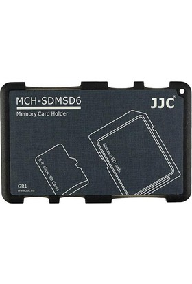 JJC Memory Card Case Hafıza Kartı Tutucu (2 SD Kart & 4 MicroSD Kart - Siyah)
