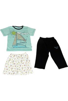 Aziz Bebe 9214 Erkek Üçlü Pijama Takımı