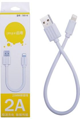Ally Akıllıphone Apple iPhone 5 5S 5C 6 6S 6 7 Plus 2A 25Mm Kısa Usb Data Kablosu