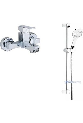 ACR Kare Banyo Bataryası + ACR White Duş Seti