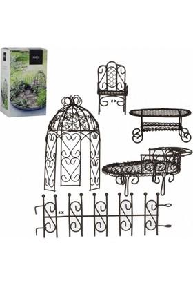 Greenmall Mini Bahçe / Terraryum Mobilya Seti 9 Parça
