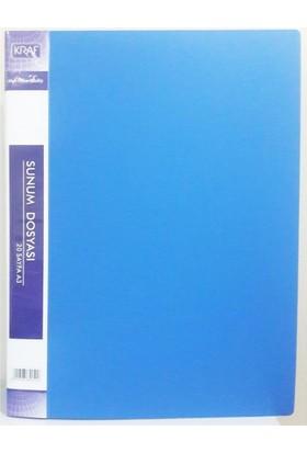 Kraf F30AK Sunum Dosyası 30Lu Mavi