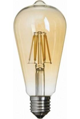 K2 6 Watt 720 Lümen Cob Ledli Dekoratif Rustik Armut Led Ampul
