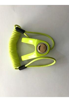 Ybs Fosforlu Yeşil Hatırlatma Kablolu Dayanıklı Malzeme Disk Kilidi