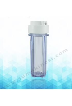 "su arıtma cihazı 10"" 1/4 Filtre Yuvası Şefaf"