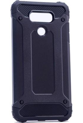 Kny Lg G6 Kılıf Çift Katmanlı Armour Case+Cam