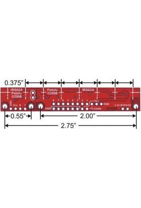 Robotzade QTR-8RC Kızılötesi Sensör - Dijital