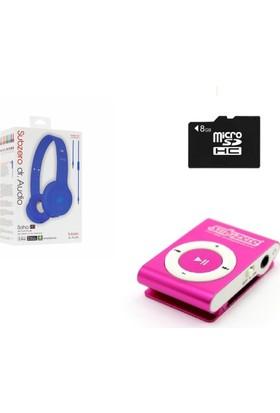 Subzero MP3 Player + 8 GB Hafıza Kartı + Subzero Mavi Kulaklık