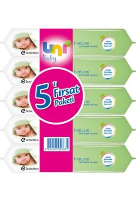 Uni Baby Natural Islak Havlu 5'li Fırsat Paketi / 280 Yaprak