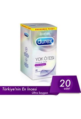 Durex Yok Ötesi Ekstra İnce Ultra Kaygan 20Li Prezervatif