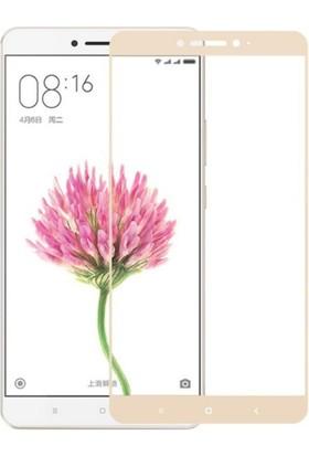 Case 4U Xiaomi Mi Max Full Kapatan Cam Ekran Koruyucu Altın