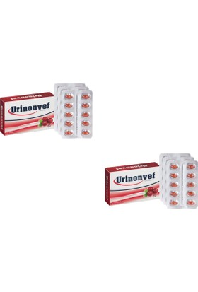 Urinonvef - Büyük Meyveli Vaksiniyum - 30 Yumuşak Kapsül - 2 Kutu