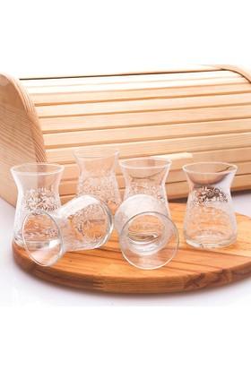 Joy Glass 6'lı Çay Bardağı Şal Desen