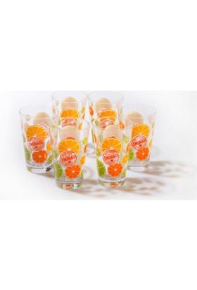 Joy Glass 6'lı Limon Desenli Bardak