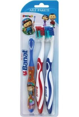 Banat Pepe Diş Fırçası Aile Paketi 3 Lü
