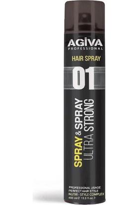 Agiva Ultra Strong Siyah Saç Spreyi 400 Ml
