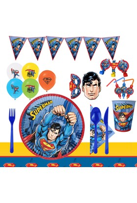 Partioutlet Superman Parti Seti ( 16 Kişilik )
