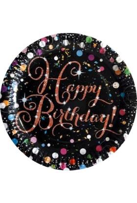 Partioutlet Happy Birthday Siyah Tabak