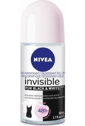 Nivea Black White Invisible Fresh Kadın Roll On 50 Ml