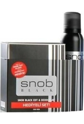 Snob Black Erkek Parfüm Set
