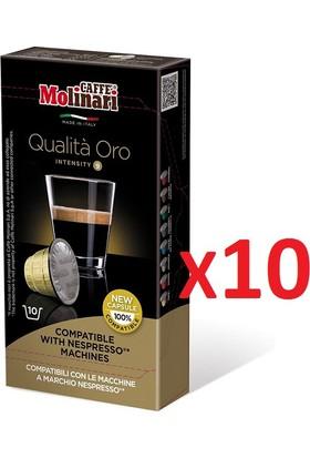 Caffè Molinari 100 adet Qualita Oro Nespresso® Uyumlu Kapsül Kahve
