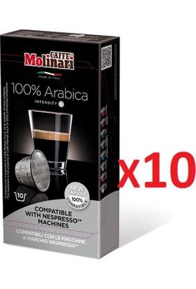 Caffè Molinari 100 adet %100 Arabica Nespresso® Uyumlu Kapsül Kahve