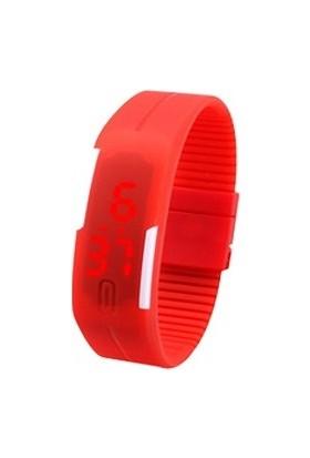 Clifton Led Kol Saati Plastik Kırmızı