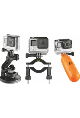 Trust Urban 21483 Aksiyon Kameraları İçin Multi Kiti / XL Vakumlu Bağlantı Aparatı