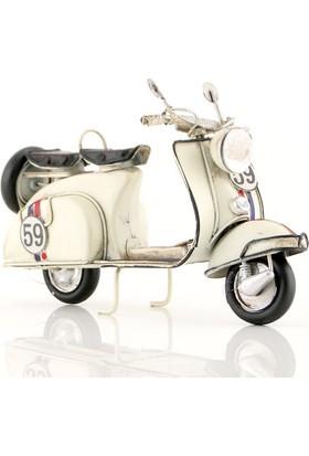 Mnk El Yapımı Eskitilmiş Metal Vintage Vespa Motorsiklet 2992Ss