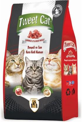 Tweet Cat Kırmızı Etli Yetişkin Kedi Maması 13 Kg