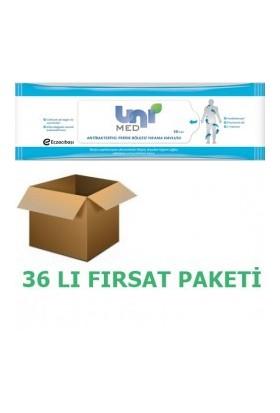 Unimed Antibakteriyel Perine Vücut Temizleme Mendili 50'li 36'lı Paket
