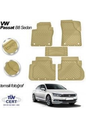 Nettedarikcisi İmg VW Passat B8 Sedan Paspas Bej