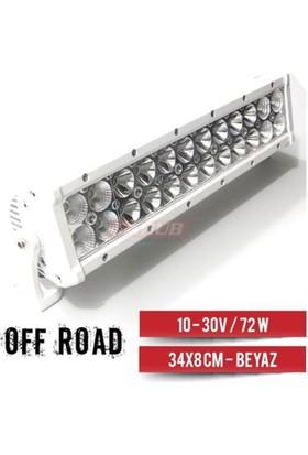 Carub Carub Projektör 10-32V- 72W Off-Road 34X8Cm Beyaz