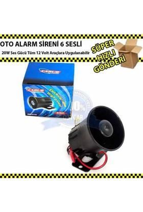 Nettedarikcisi Oto Alarm Sireni 6 Sesli 4.8 Cm 20W 12Volt