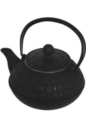 İkram Dünyası Bambum Linden - Papatya 800 Ml Siyah Döküm Çaydanlık
